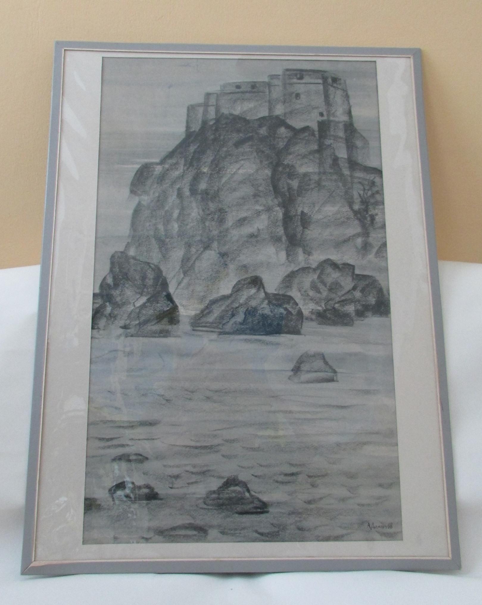 Графіка «Фортеця на острові. Дубровник» А. Т. Домніча