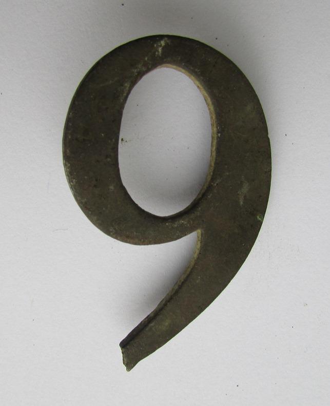 """Метал. """"Номерний знак військового підрозділу (""""9"""") періоду Кримської війни"""""""