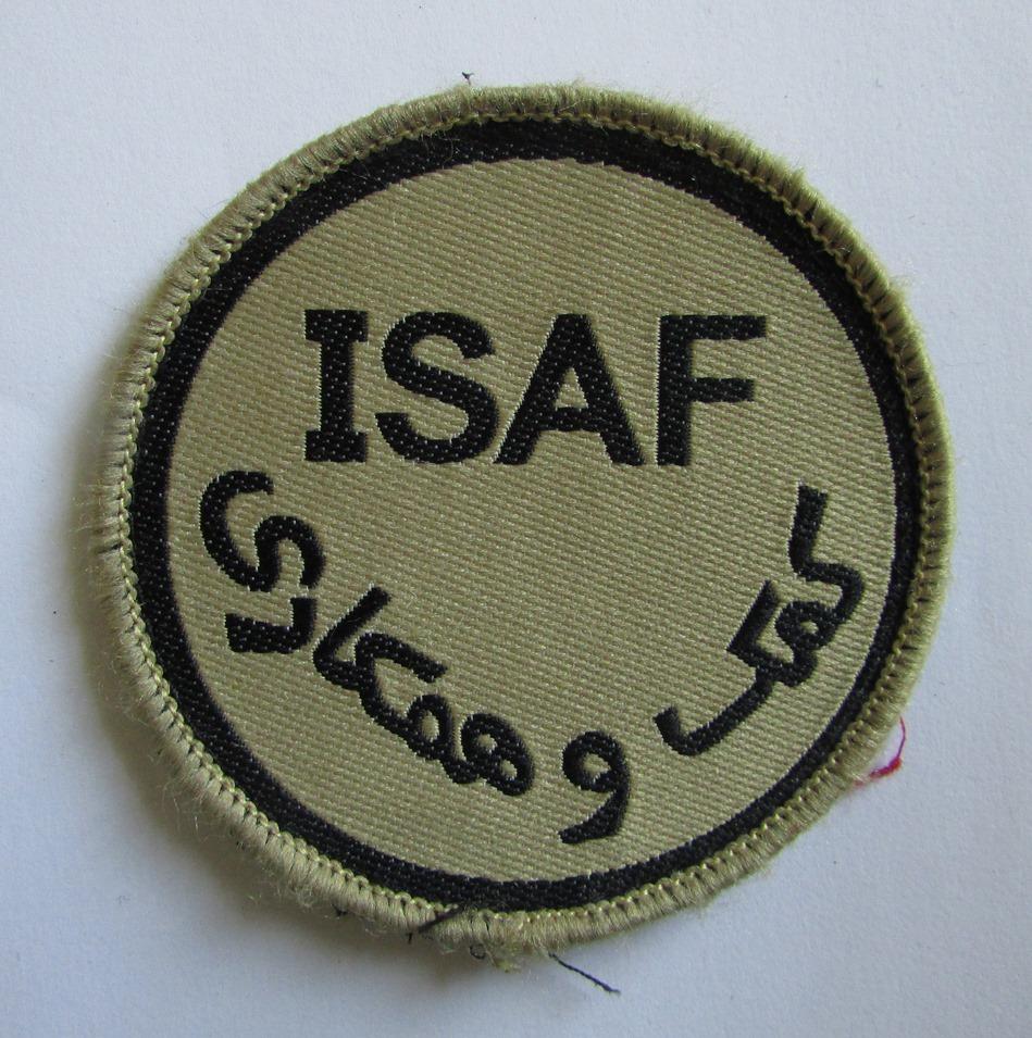 """Тканини. """"Шеврон міжнародних сил сприяння безпеці у Ісламській Республіці Афганістан """"ISAF"""""""
