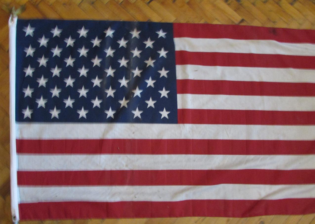 """Тканини. """"Американський прапор - подарунок Правому Сектору в АТО від бійця з позивним """"Крайг"""" з 1-ї американської піхотної дивізії"""""""