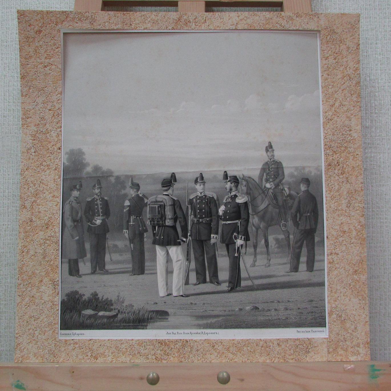 """Графіка. Репродукція """"Миколаївське-інженерне та Михайлівське-артилерійське училище, 1867 г."""""""