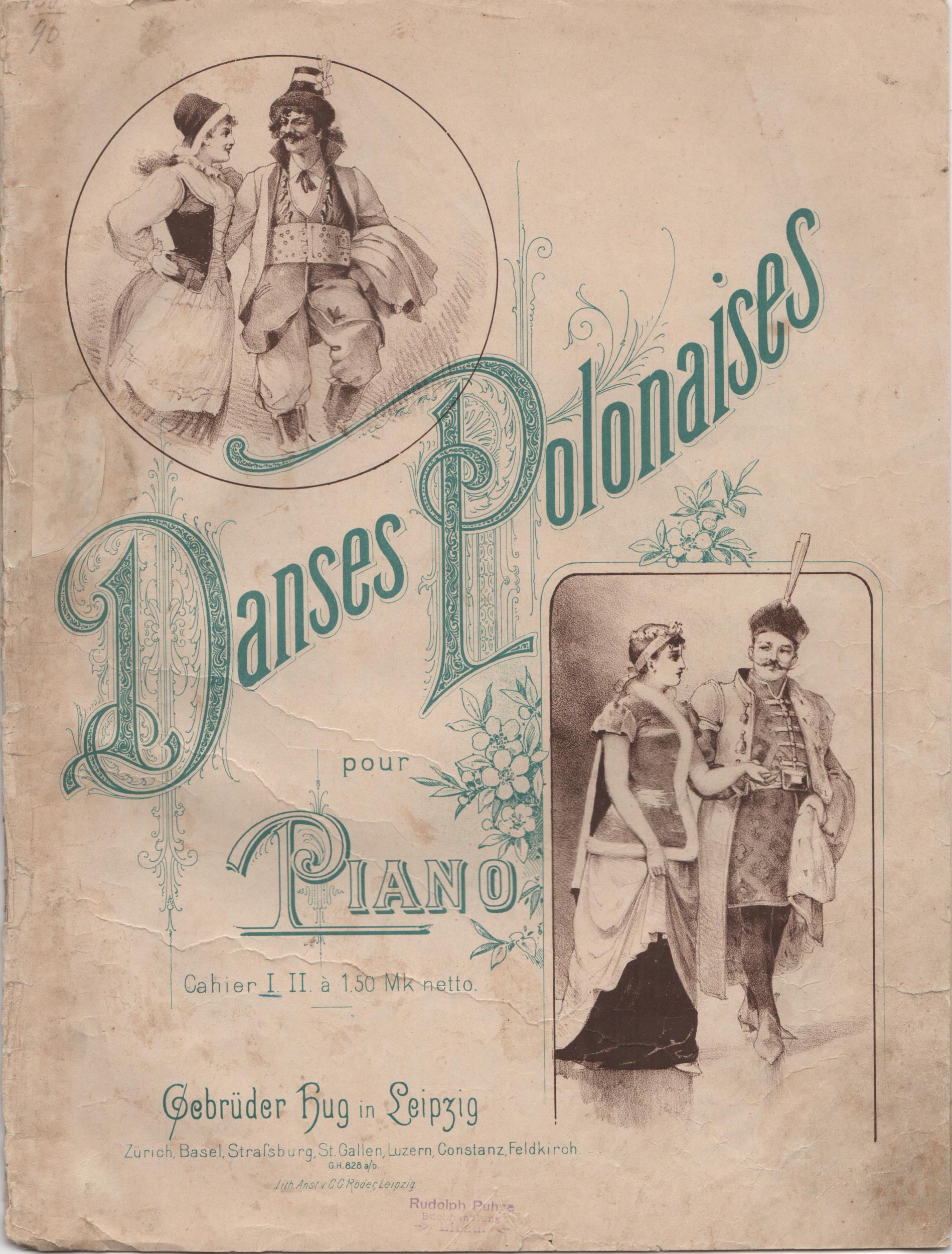 """Книга """"Danses Polonaises pour Piano / Польські танці для фортепіано"""""""