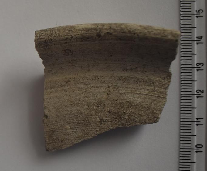 Археологія. Фрагмент вінця гончарної посудини. ХVII ст.