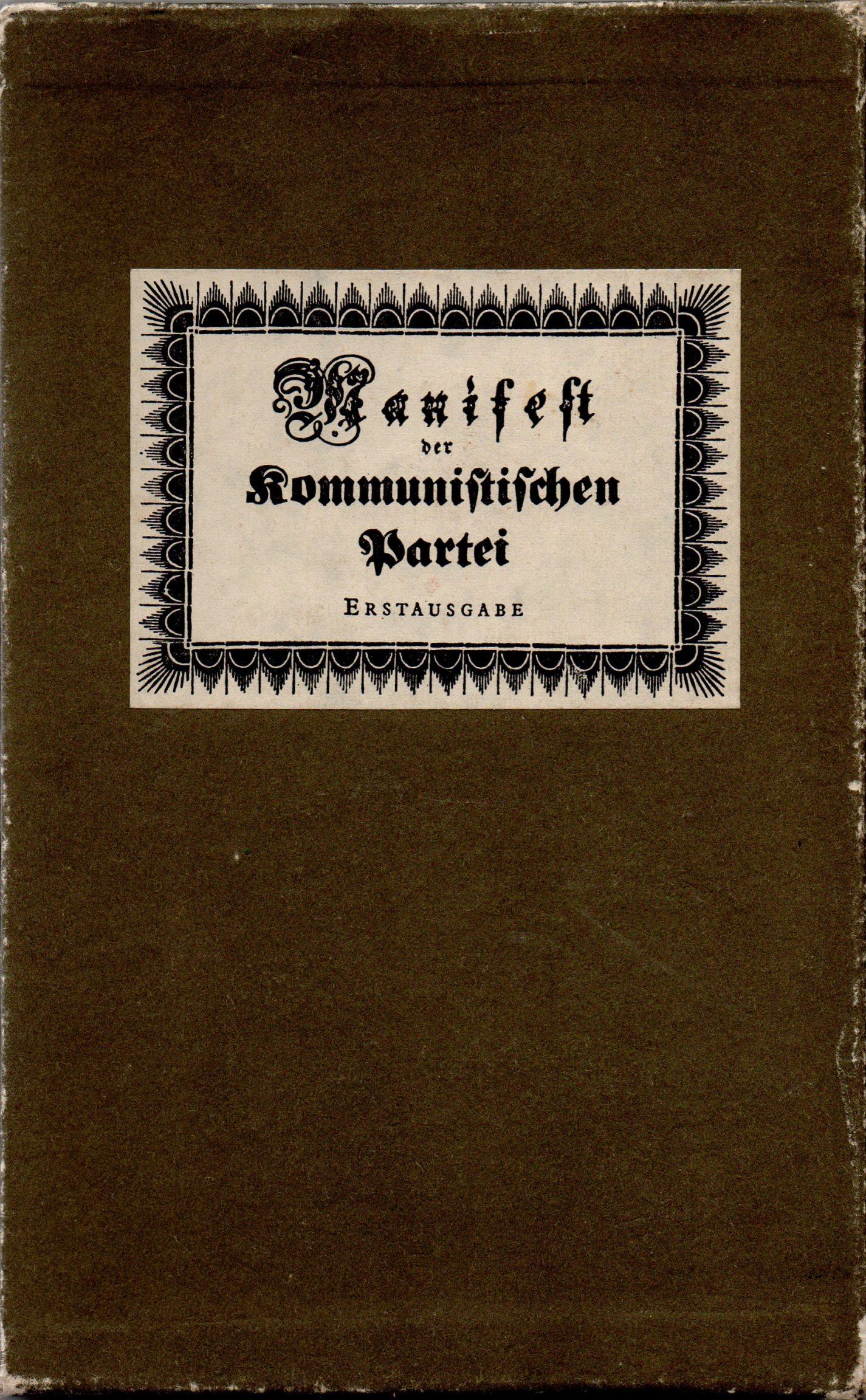 "Книга Маркс К., Енгельс Ф. ""Manifest der Kommunistischen Partei / Маніфест комуністичної партії"""