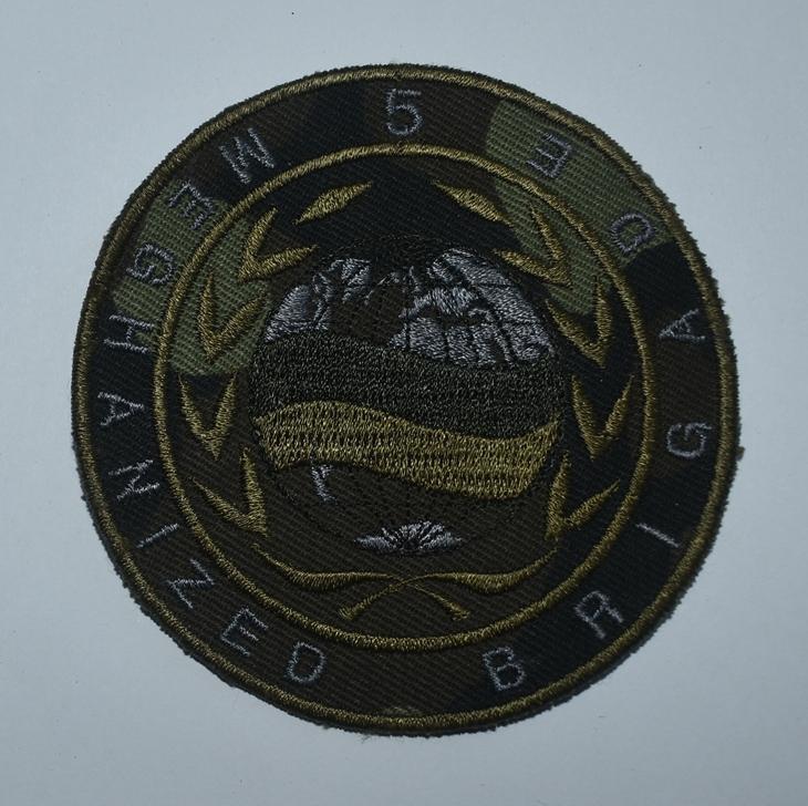 "Тканини. ""Шеврон-нашивка. 5-та окрема механізована бригада (ОМБР) «5 MECHANIZED BRIGADE»""."
