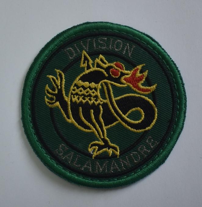 """Тканини. """"Шеврон-нашивка. 240-й український батальйон дивізії «DIVISION SALAMANDRE»""""."""