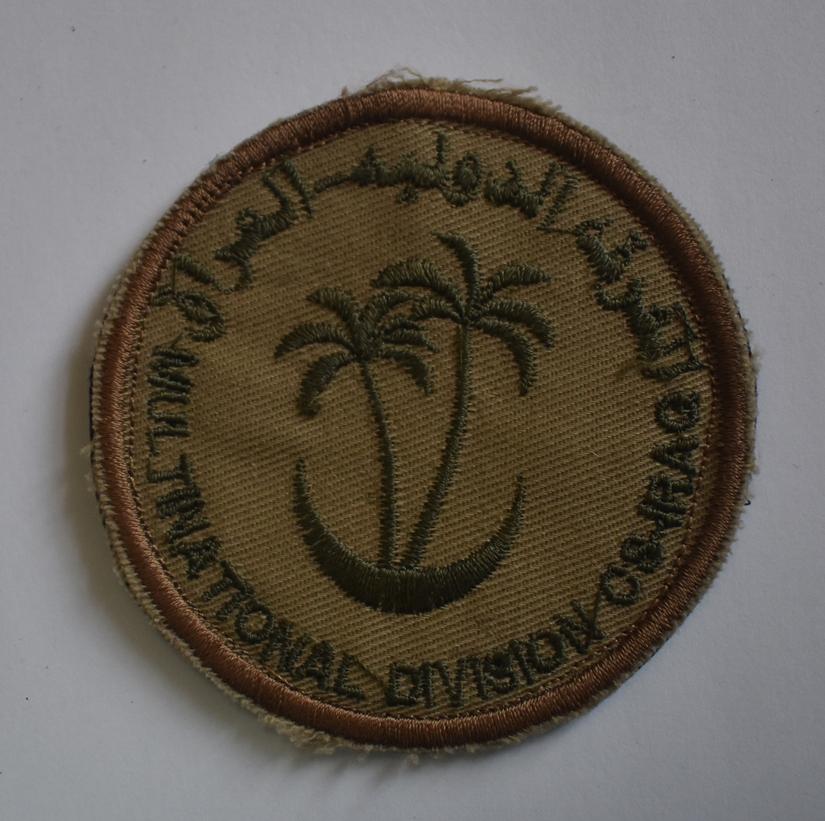 """Тканини. """"Шеврон «MIULTINATIONAL DIVISION CS IRAG» / Багатонаціональна дивізія Південний Схід."""""""