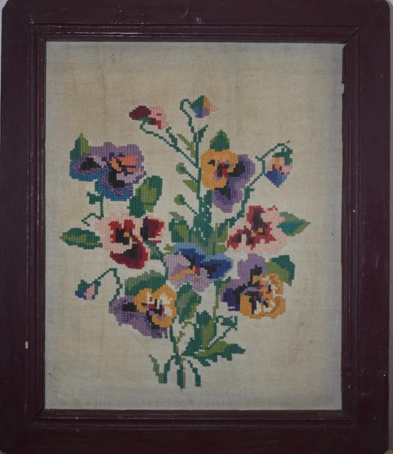 Тканини. Кольорова вишивка (хрестиком) «Букет квітів»