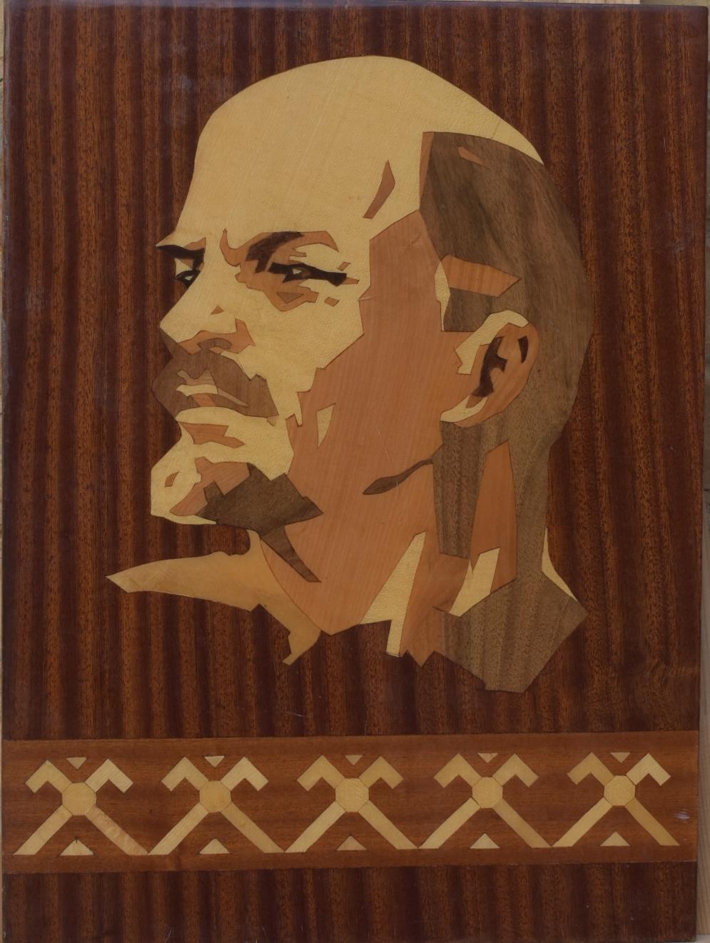 """Декоративно-ужиткове мистецтво. Дерево. """"Портрет В. І. Леніна"""""""