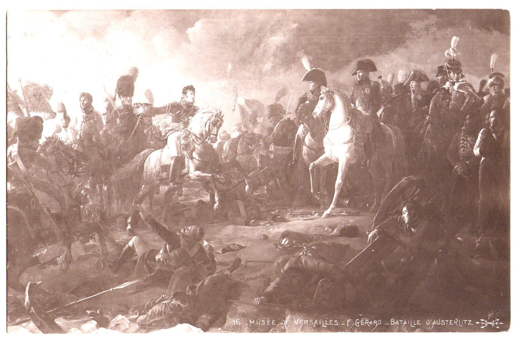 "Поштова листівка. ""Musée de Versailles._ F. Gerard._ Bataille d'Austerlitz / Ф. Жерар._Битва при Аустерліці"""