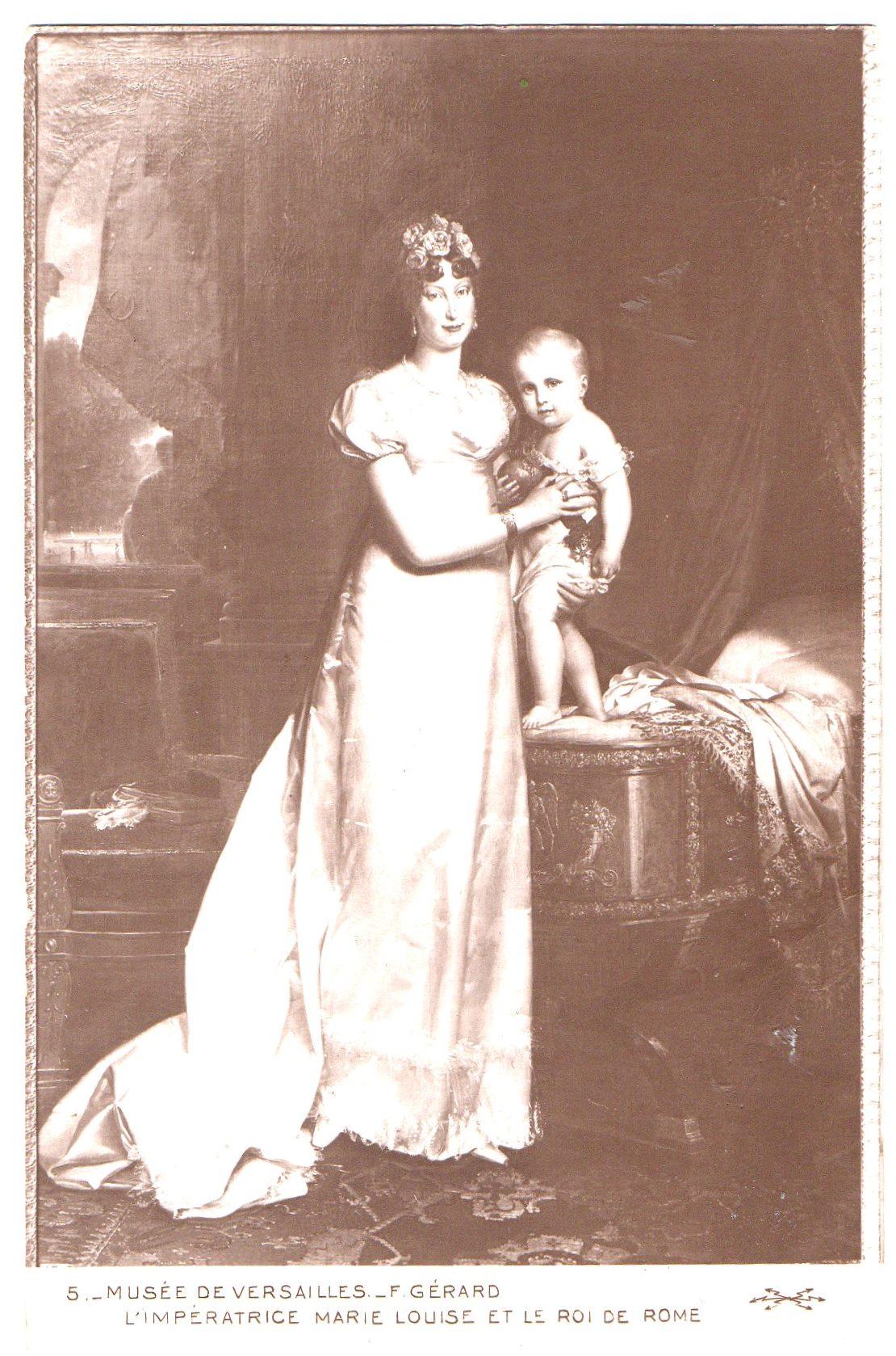 "Поштова листівка. ""Musée de Versailles._ F. Gerard . L'Impératrice Marie Louise et le roi de Rome / Музей ""Версаль""._ Ф. Жерар. Імператриця Марія Луїза та король Риму"""