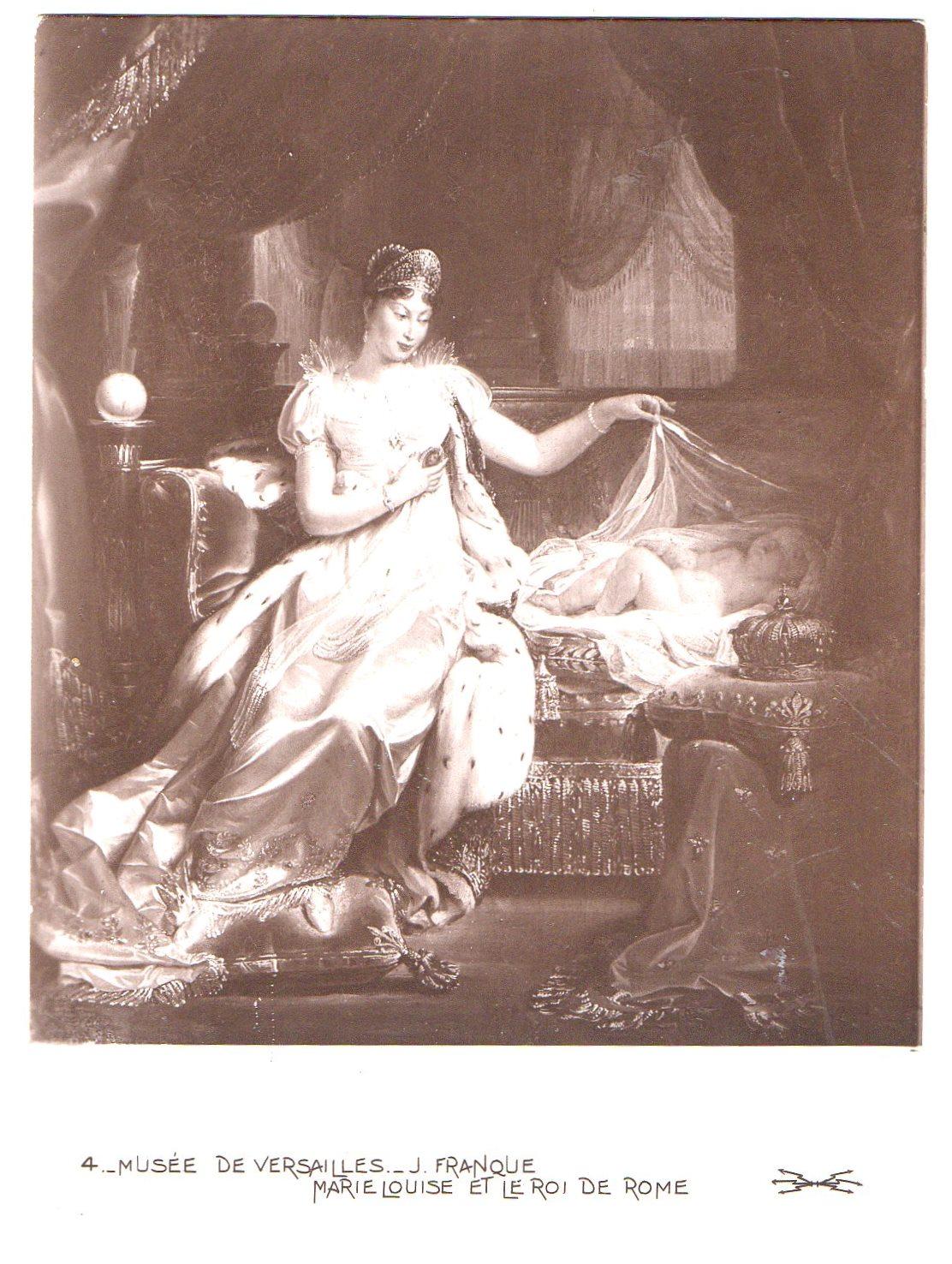 """Поштова листівка. """"Musée de Versailles._ J. Franque. Marie Louise et le roi de Rome / Музей """"Версаль""""._ Ж. Франк. Марія Луїза та король Риму"""""""