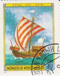 "Марка поштова гашена. ""Hansa COG. A. D. XII. Mongolia"""