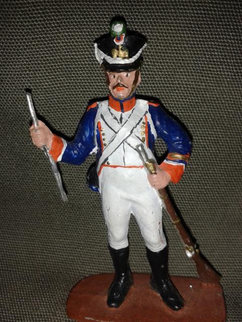 """Історична мініатюра """"Французький піхотинець. Фузілер. 1812"""""""