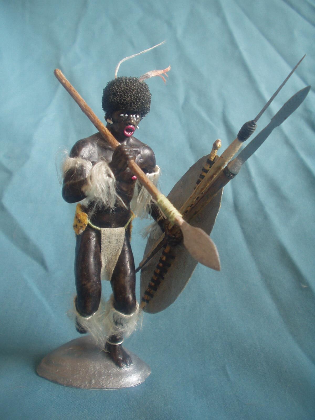 "Історична мініатюра. ""Воїн з племені Зулу. Африка. ХVIII - кінець ХІХ ст."""