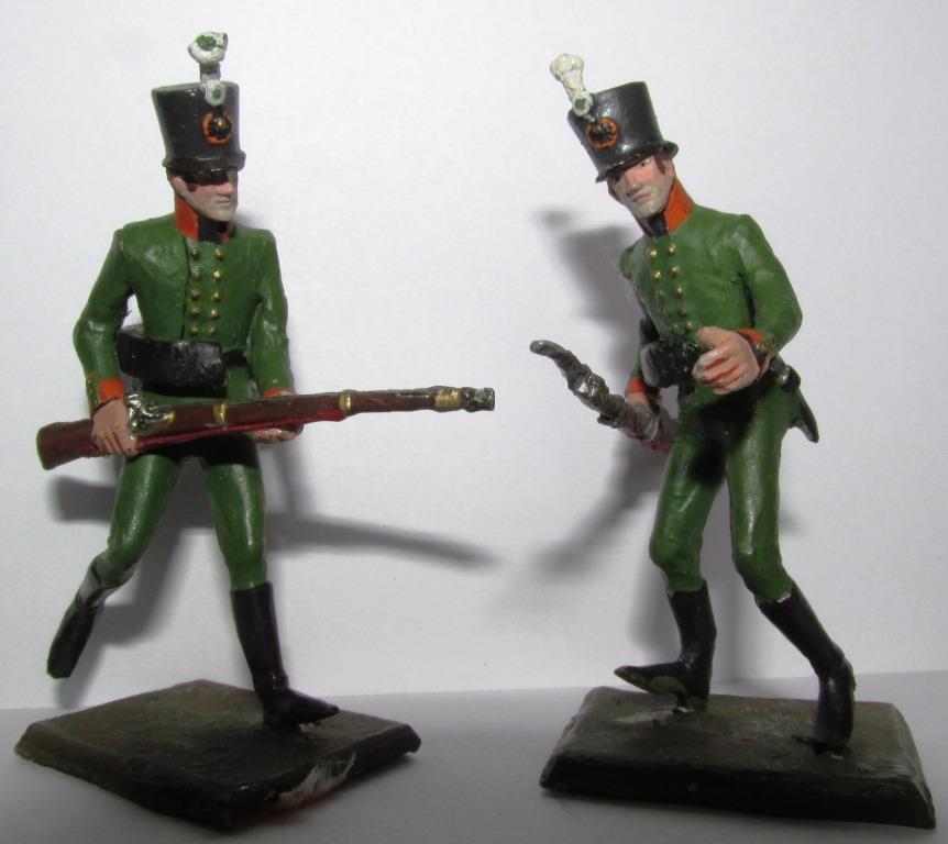 """Історична мініатюра. """"2 єгері 6-го єгерського полку.  Російська імперія. 1805"""""""