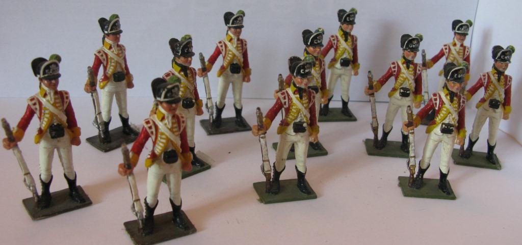 """Історична мініатюра. """"12 стрільців легкої піхоти. Великобританія. 1765"""""""