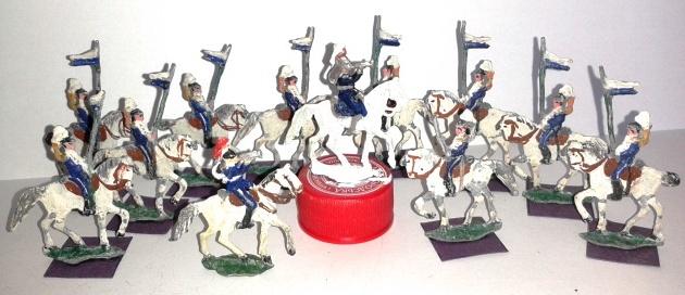 """Історична мініатюра. """"12 уланів. Російська імперія. 1840-ві-1860-ті рр."""""""