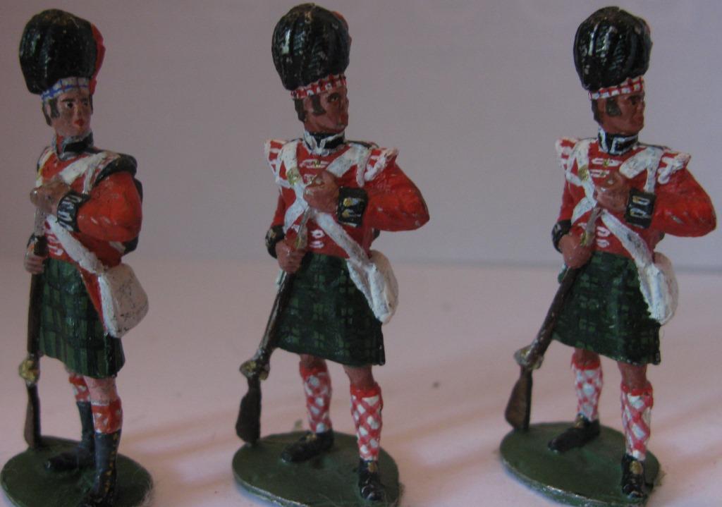 """Історична мініатюра. """"3 солдата 49-го Хайлендського полку. Великобританія.1815"""""""