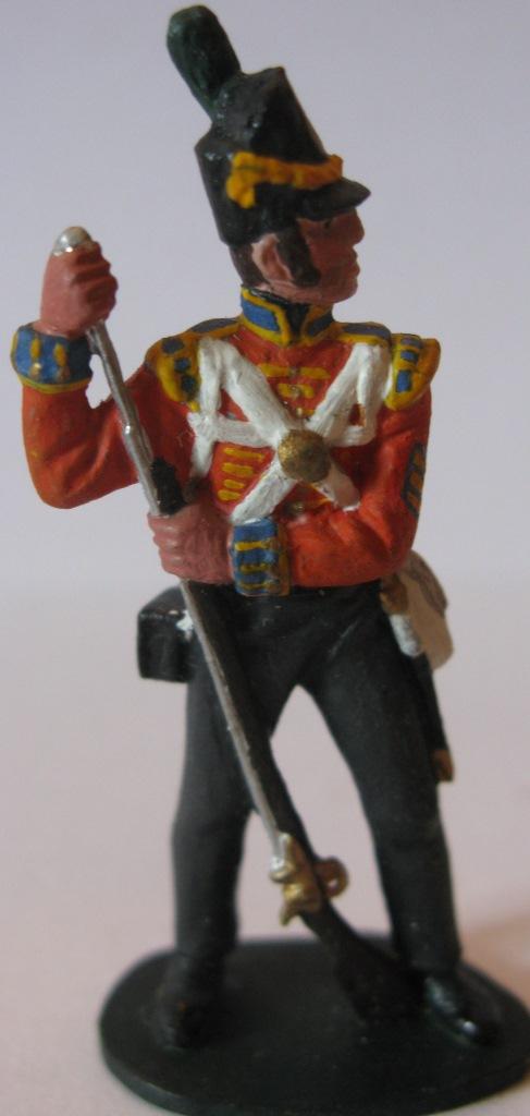 """Історична мініатюра. """"3 фузілери лінійної піхоти. Великобританія. 1813"""""""