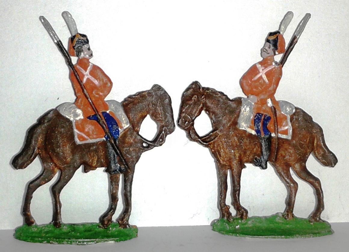 """Історична мініатюра. """"2 солдати Козацького лейб-гвардії полку. Російська імперія. 1812"""""""