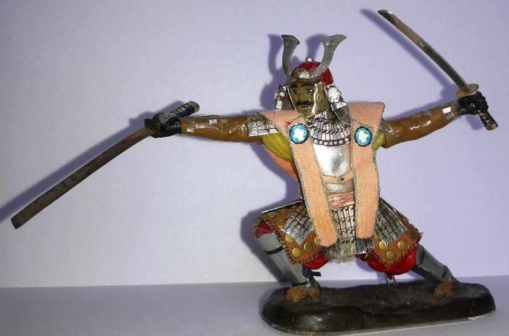 """Історична мініатюра. """"Самурай в шоломі. Японія. XVI ст."""""""