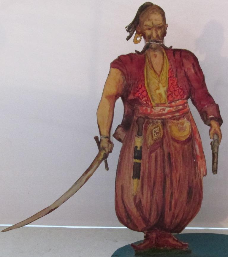 """Історична мініатюра. """"Запорізький козак з шаблею. Військо Запорозьке Низове. ХVI-XVIII ст."""""""