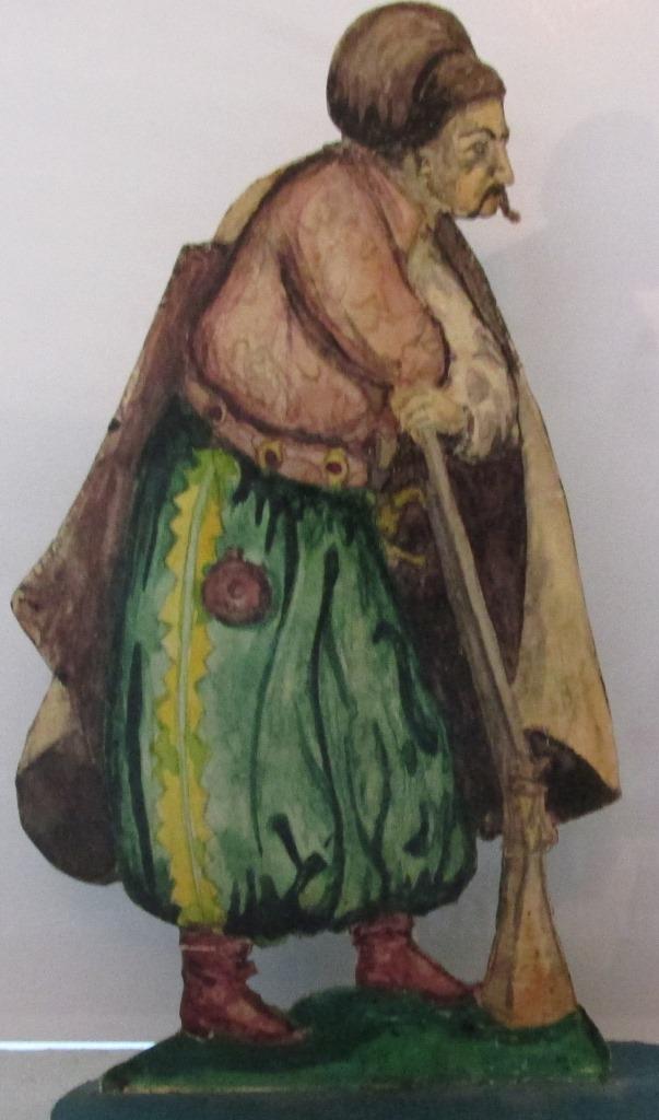 """Історична мініатюра. """"Запорізький козак з рушницею. Військо Запорозьке Низове. ХVI-XVIII ст."""""""