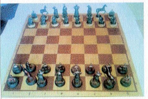 """Історична мініатюра. """"Шаховий комплект в українському національному стилі"""""""