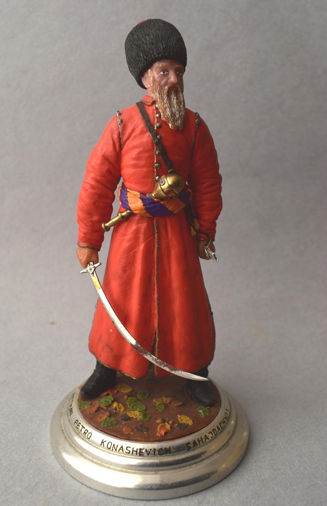 """Історична мініатюра. """"Петро Кононович Конашевич-Сагайдачний. Гетьман реєстрового козацтва, кошовий отаман Запорізької Січі. 1616-1622"""""""