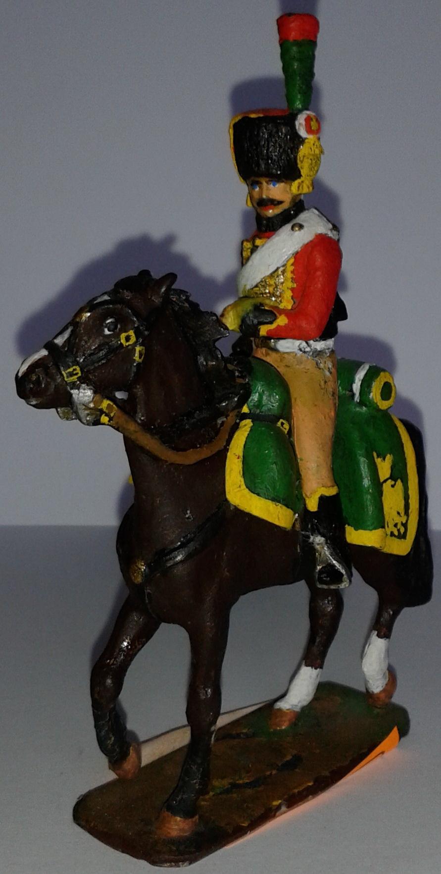 """Історична мініатюра. """"Кінний єгер. Імператорська гвардія. Перша Французька імперія. 1804-1815"""""""