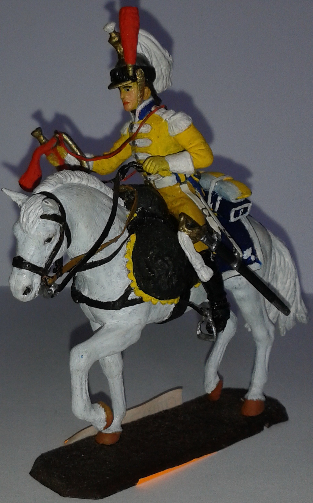 """Історична мініатюра. """"Лейтенант Кінно-єгерського полку. Імператорська гвардія. Перша Французька імперія. 1804-1815"""""""