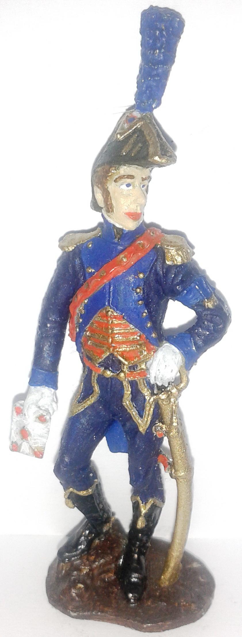 """Історична мініатюра. """"Ад'ютант у парадній формі. Перша Французька імперія. 1804-1815"""""""