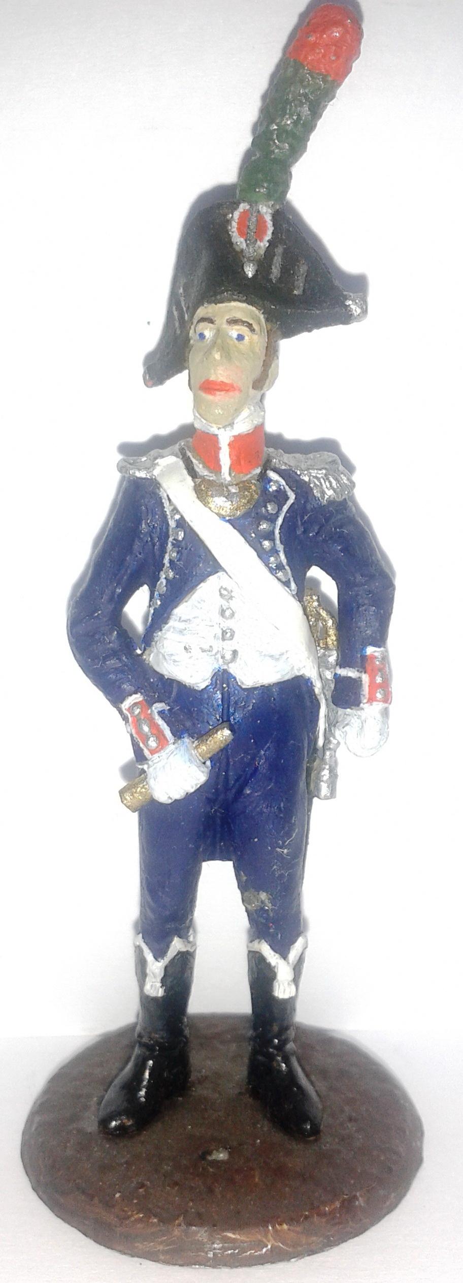"""Історична мініатюра. """"Офіцер 1-го полку піших єгерів. Імператорська гвардія. Перша Французька імперія. 1804-1815"""""""