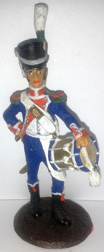 "Історична мініатюра. ""Барабанщик. Карабінер. Перша Французька імперія. 1804-1815"""