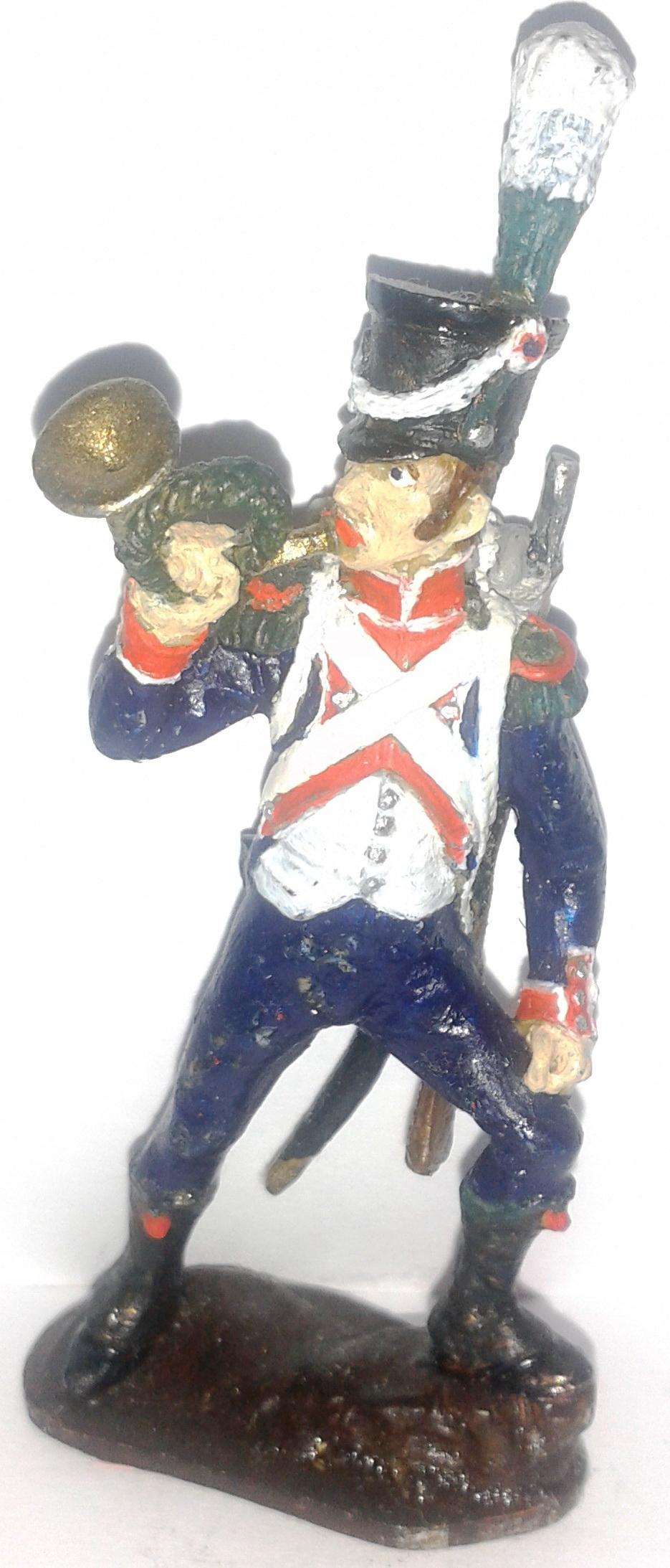 """Історична мініатюра. """"Корнетист єгерського полку. Імператорська гвардія. Перша Французька імперія. 1804-1815"""""""