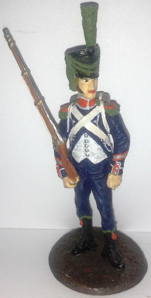 """Історична мініатюра. """"Капрал 1-го полку піших єгерів. Імператорська гвардія. Перша Французька імперія. 1805"""""""