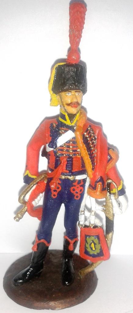 """Історична мініатюра. """"Трубач 1-го гусарського полку у парадній формі. Перша Французька імперія. 1804-1815"""""""