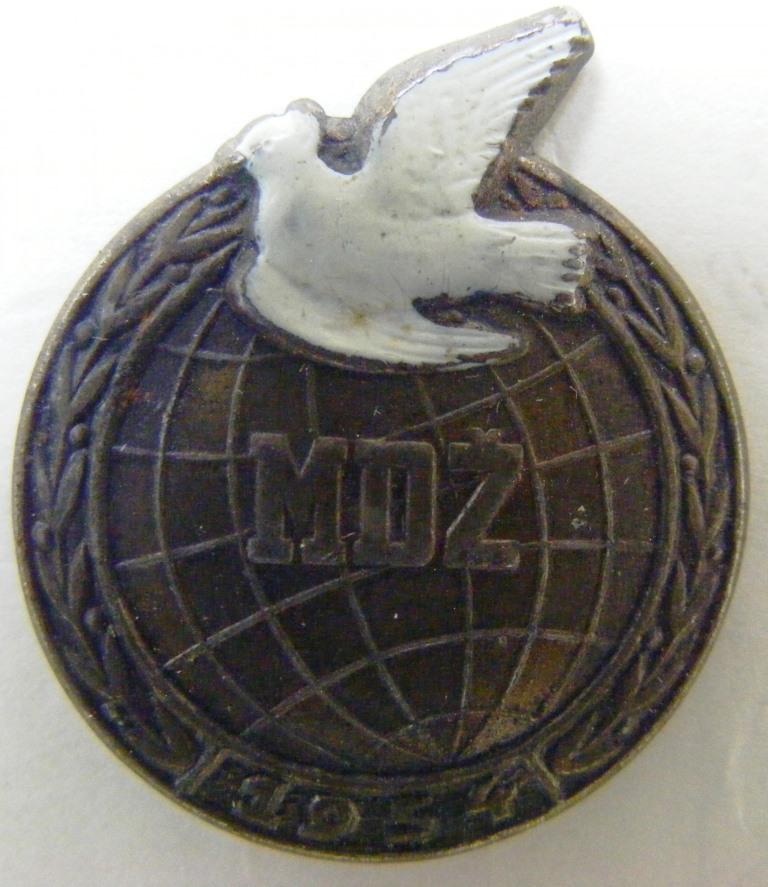 """Значок нагрудний. """"MDZ. 1954"""""""