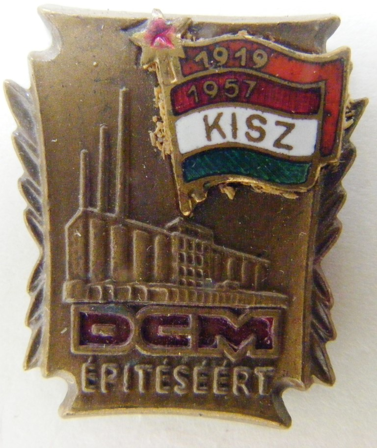 "Значок нагрудний. ""1919-1957 KISZ. DCM. Epiteseert""."