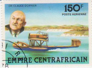 """Марка поштова гашена """"Dr. Claude Dornier. Empire Centrafricaine"""""""