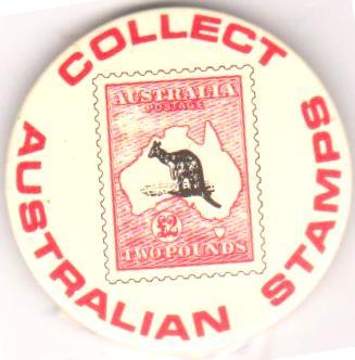 "Значок нагрудний. ""Australian stamps collect"""