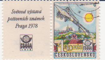 """Марка поштова гашена. """"Ing. Jan Kašpar. Pardubice-Praha 13.5.1911. Svetova vystava postovnich znamek Praga. 1978. Ceskoslovensko"""""""