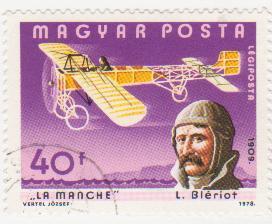 """Марка поштова гашена. """"La Manche"""". L. Bleriot 1909"""""""