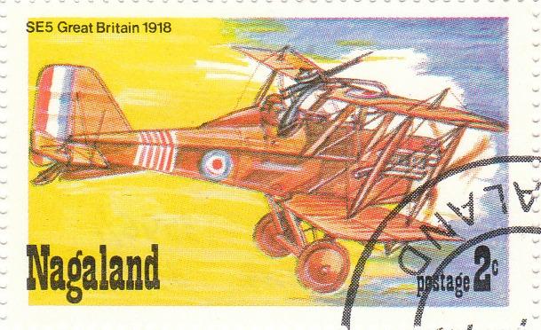 """Марка поштова гашена. """"Se 5 Great Britain 1918"""""""