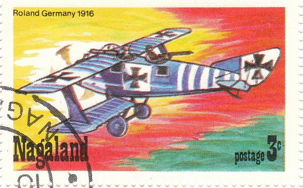 """Марка поштова гашена. """"Roland Germany. 1916"""""""