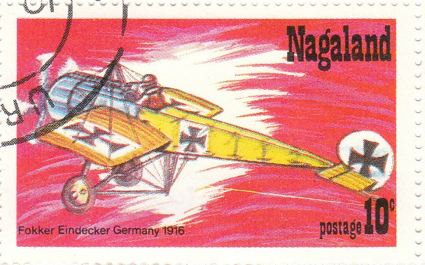 "Марка поштова гашена. ""Fokker Eindecker Germany. 1916"""