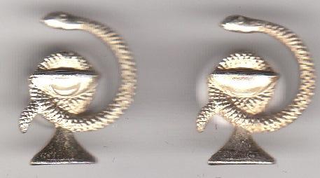 Знак-емблема на петлиці уніформи військовослужбовця військово-медичної служби Червоної Армії (2 од.)