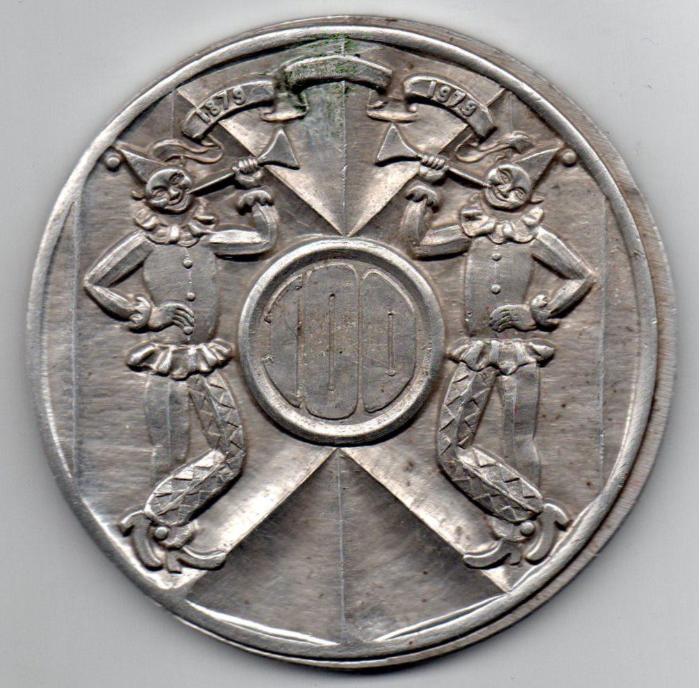 "Медаль пам'ятна . ""100 лет Одесскому цирку. 1879-1979"""