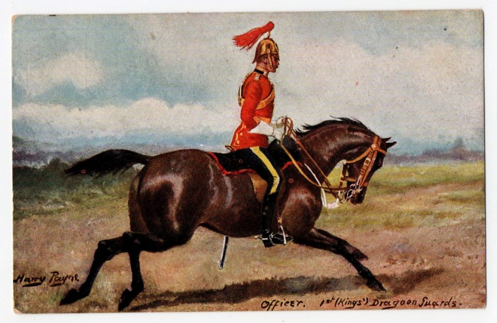"Поштова листівка. ""Harry Payne. Officer. 1st (Kings᾽) Dragoon guards"""